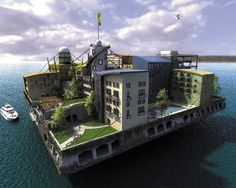 Floating, self sustaining island home/apartment block for 270 people? Yes. Yes, Please.