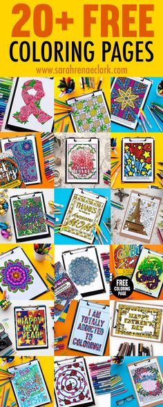 Free coloring pages! Get 20+ free adult coloring pages and printables from www.sarahrenaeclark.com | Free coloring pages for adults #Adultcoloring #coloringpage #freeprintables