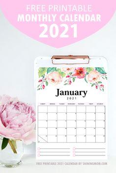 monthly calendar 2021 free printable Kids Calendar, 2021 Calendar, Calendar Design, Print Calendar, Calendar Ideas, Printable Planner Pages, Printable Calendar Template, Free Printables, Cute Planner