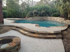 Cypress Custom Pools --- Helwick Remodel ---Before & After traditional pool