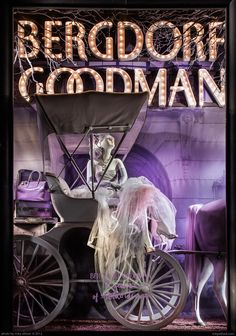 Bergdorf Goodman window display, Fifth Avenue,  celebrating 111 years. #retail #merchandising #display