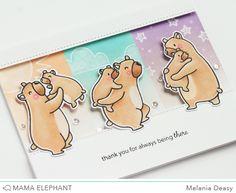 Mama Elephant Stamp Highlight Cub Cuddles