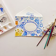 The Lost Art of Letter Writing...Revived!: Snailmail and Water Colored Envelopes