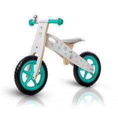 Bicicletta senza pedali color Tiffany