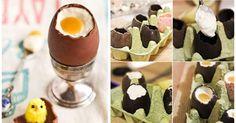 recept na Velikonoční vajíčka z čokolády a krému