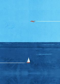 Are you going to parachute in his boat ? es illustrations of Shout shout illustration 15 Abstract Illustration, Plakat Design, Illustrations And Posters, Illustrators, Pop Art, Scenery, Photos, Pictures, Ocean