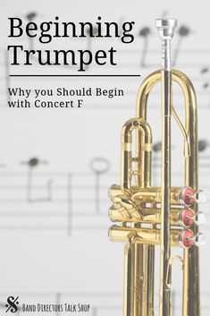Click here for a great article on how starting with concert F can ensure success in your beginning trumpet class. If you are a beginning band director, these brass teaching tips are sure to help! #banddirectorstalkshop #trumpet #beginningband #beginningbrass #trumpetteachingideas Middle School Music, High School Band, Teaching Music, Teaching Tips, Student Teaching, Music Lesson Plans, Music Lessons, Music Theory Games, Music Classroom