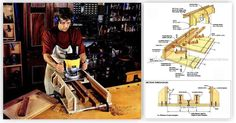 Self Centering Mortising Jig - Joinery Tips, Jigs and Techniques - Woodwork, Woodworking, Woodworking Tips, Woodworking Techniques Woodworking Router Bits, Woodworking Techniques, Woodworking Projects, Mortise Jig, Wood Jig, Intarsia Patterns, Tools Hardware, Intarsia Woodworking, Self Centered