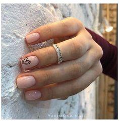 Short Nails Art, Long Nails, Dark Nails, Do It Yourself Nails, Nails Design With Rhinestones, Short Nail Designs, Nail Designs For Winter, Neutral Nails, Minimalist Nails