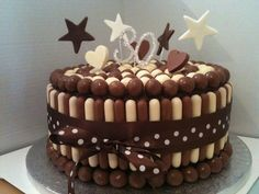chocolate birthday cakes - maltesers and chocolate fingers