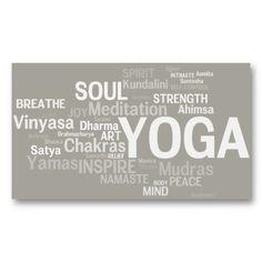 YOGA Instructor Business Card - Yoga Words