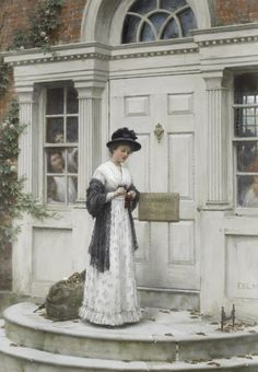 Edmund Blair Leighton (1853-1922) - The new governess