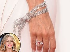Sofía Vergara's Knotted Bracelet from 2014 Emmys: Best Bling - The Modern Family star's curve-hugging Cavalli gown caught our attention first, but then we noticed her stunning details, like this knotted diamond Lorraine Schwartz bracelet. She also had a killer pair of diamond earrings to match.