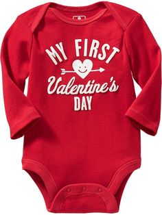 Valentine's Day Bodysuits for Baby Product Image