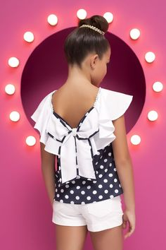 Ideas for moda infantil feminina conjunto Little Girl Models, Little Girl Dresses, Girls Dresses, Fashion Kids, Shorts E Blusas, Baby Bling, Girls Blouse, Gypsy Dresses, Lolita Dress