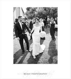 Just married! Love the excitement in this photo.  At Centennial Vineyards in Bowral.  McKay Photography  #bowral #wedding