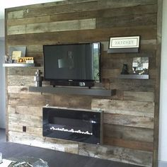Man! this could totally make a room pop...i would do it..! I'm getting a woody!! Get it get it! Diy Tv Wall Mount, Wall Mounted Tv, Fireplace Wall, Fireplace Design, Fireplace Ideas, Fireplace Drawing, Fireplace Stone, Fireplace Bookshelves, Fireplace Mantles