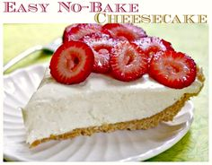This no bake cheesecake recipe was printed on a can of sweetened condensed milk back in the day! With only 4 ingredients, it couldn't be more simple! // #NoBake #Cheesecake