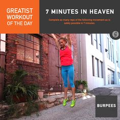 Greatist Workout of the Day, Friday, August 22: 7 Minutes in Heaven: 7 minutes of burpees (completed 80)