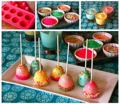 Spring Brownie Pops