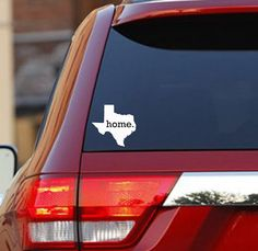 Texas Home State Car Decal Sticker by HomelandTees on Etsy.