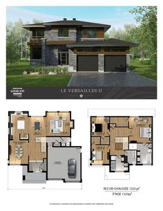 House design, house plans и two story house plans. Sims 4 House Plans, Two Story House Plans, House Layout Plans, New House Plans, House Layouts, Building Design, Building A House, Model House Plan, Modern Contemporary Homes