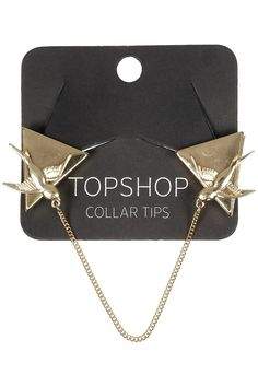 Topshop Bird Collar Tips Collar Tips, Old Shirts, All Black Everything, Watch Necklace, Dressed To Kill, Topshop Outfit, Suits For Women, Bag Accessories, Collars