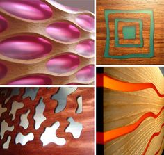 Wood and resin/plastic/metal combos for walls & room dividers ( orange ) Plastic Wall Panels, Wooden Wall Panels, Wooden Walls, Wooden Room, Resin Crafts, Wood Crafts, Diy Crafts, Wood Resin, Resin Art