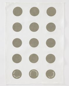 French Dot Tea Towel from Studiopatro. Love the grey polka dots and the French phrase printed on it.