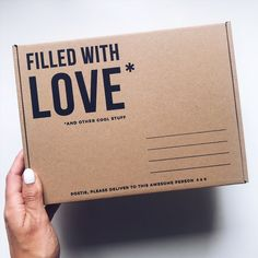 Filled With Love - RUTH XO Packaging Heads up : This post may include affiliate links which means I may receive a commission if you purchase through a link. However, please be assured I only recommend products I have personally used and loved. Packaging Carton, Print Packaging, Food Packaging, Packaging Ideas, Packaging Design Box, Creative Gift Packaging, Package Design, Gift Box Packaging, Paper Packaging