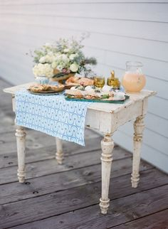 Clevenger White Table at Found Vintage Rentals. Petite white farm table perfect for cakes or a guestbook Vintage Table, Outdoor Dining, Outdoor Buffet, A Table, Porch Table, Brunch Table, Table Legs, Painted Furniture, Furniture Ideas