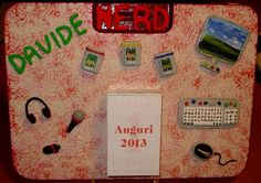 Pannello-calendario con miniature in fimo.