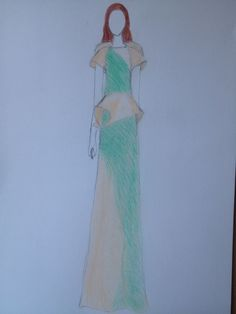 #drawing#long#dress#fashion