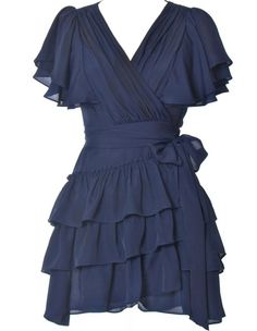 Midnight Express Dress via Rickety Rack  Loving this midnight blue color and the ruffles are so pretty! http://media-cache6.pinterest.com/upload/58828338852657221_yuqM48Sm_f.jpg earmarksocial clothing and style