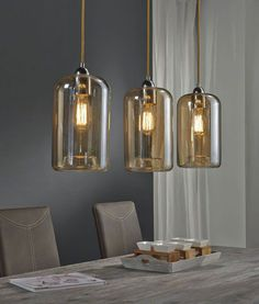 Filament lamps Edison clear glass - ALL ABOUT 3 Light Pendant, Pendant Lamp, Pendant Lighting, Room Lights, Wall Lights, Ceiling Lights, Industrial Lighting, Home Lighting, Street Light Design