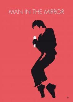 No032 MY MICHAEL JACKSON Minimal Music poster Michael, Jackson, Man, in the, Mirror, Quincy, Jones, Bad, Grammy, Awards,