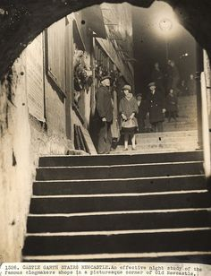 034249:Castle Stairs Newcastle upon Tyne Evening World c.1930/31 by Newcastle Libraries, via Flickr