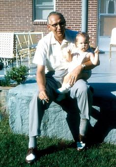 Me & my Daddy ~ 1960 at our house in Dunaire