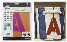 CHA 2015: Introducing New Craft Trends - Monogram Stencils - super easy to personalize any DIY projects! #plaidcrafts #folkart