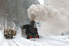 romania winter landscape old train Maramures pictures beautiful eastern europe Europe Train Travel, Travel Tours, Travel Ideas, Romania People, Trains, Old Steam Train, Visit Romania, Famous Castles, Tourist Places