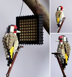 Goldfinch made of LEGO by Thomas Poulsom.