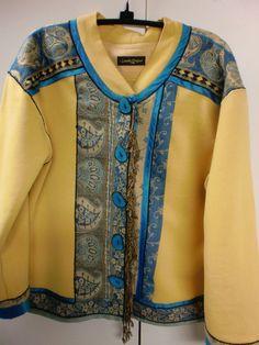 Scarves to embellish Londa's Creative Sweatshirt Jackets - sew-whats-new.com