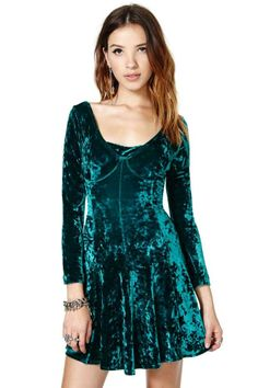 Spectrum Velvet Dress