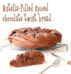 Nutella filled spiced chocolate twist bread