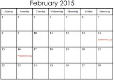 Download Feb 2015 Calendar Printable Template & Design. Cute January 2015 Calendar Printable Pages, Excel, PDF, Pictures, Wallpapers, Images, Photos