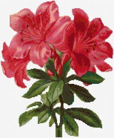 Cross Stitch | Red Lilies xstitch Chart | Design …