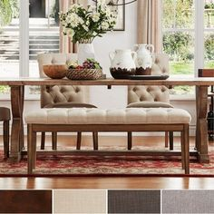 Shop for SIGNAL HILLS Benchwright Tufted Reclaimed 52-inch Upholstered Bench and more for everyday discount prices at Overstock.com - Your Online Furniture Store!