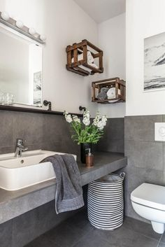 Bathroom Farmhouse Sink Concrete Countertops 27 Ideas For 2019 sink bathroom vanity Bathroom Sink Storage, Farmhouse Bathroom Sink, Bathroom Styling, Bathroom Lighting, Bathroom Vanities, Grey Bathrooms, Modern Bathroom, Bathroom Pink, Bathroom Ideas