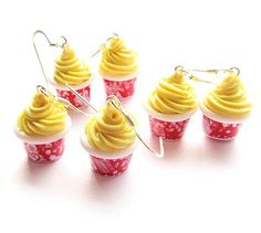 PRE-ORDER Dole Whip EARRINGS Walt Disney World Disneyland Adventureland Aloha Isle Polynesian Polymer Clay Disney Jewelry on Etsy, $20.00. I love these! @mishpelle