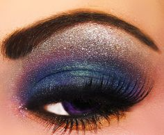 blue/purple makeup